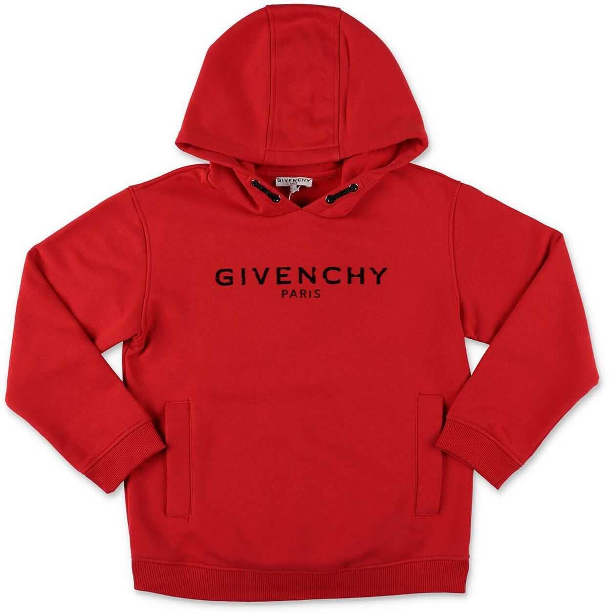 Givenchy Mini Me Vintage Logo Red Hoodie Red
