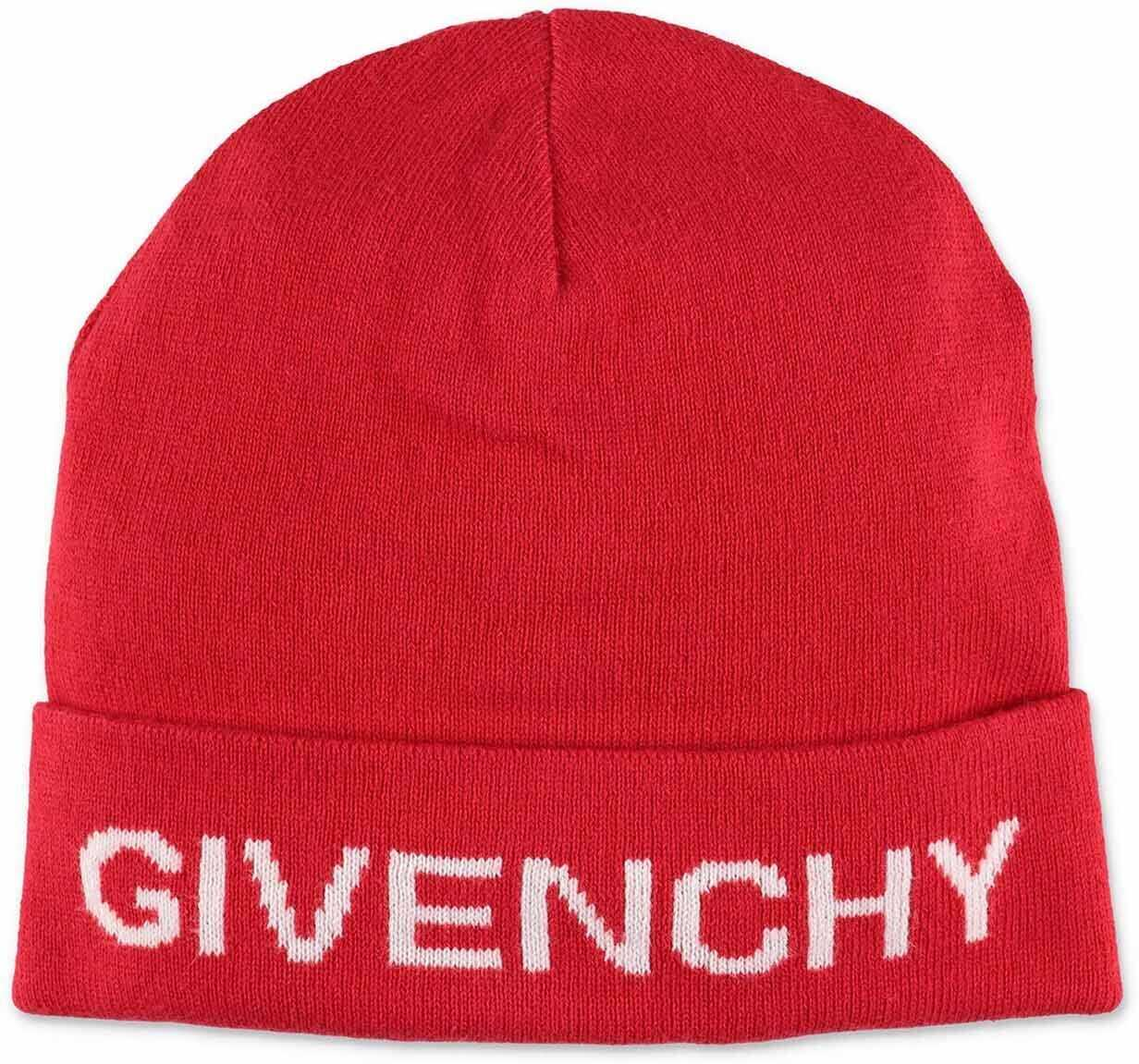 Givenchy Red Beanie With Logo Red