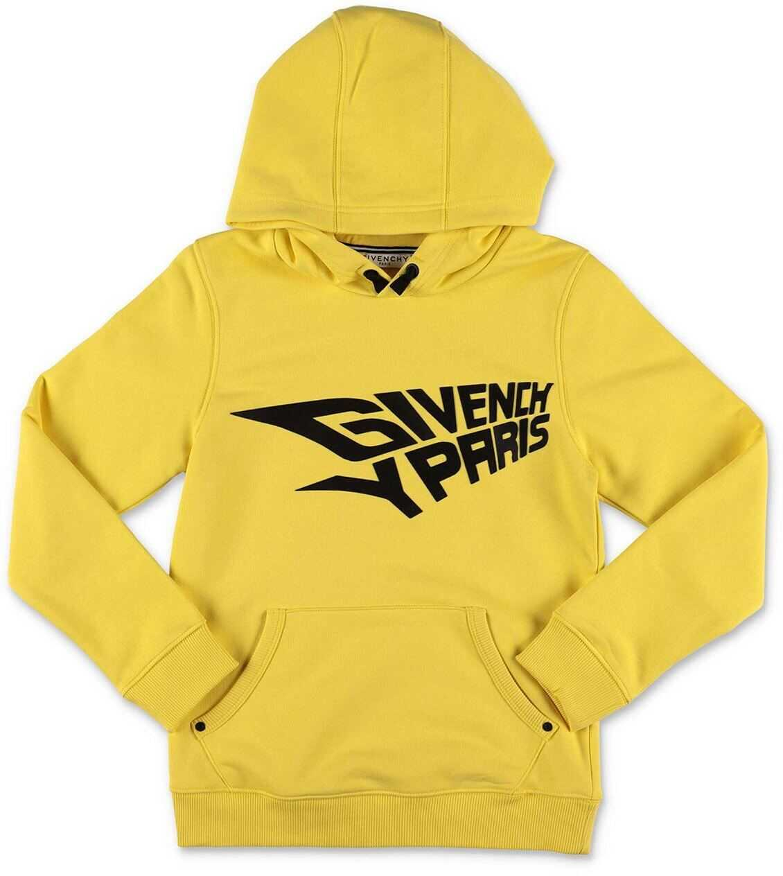 Givenchy Yellow Hoodie With Logo Yellow