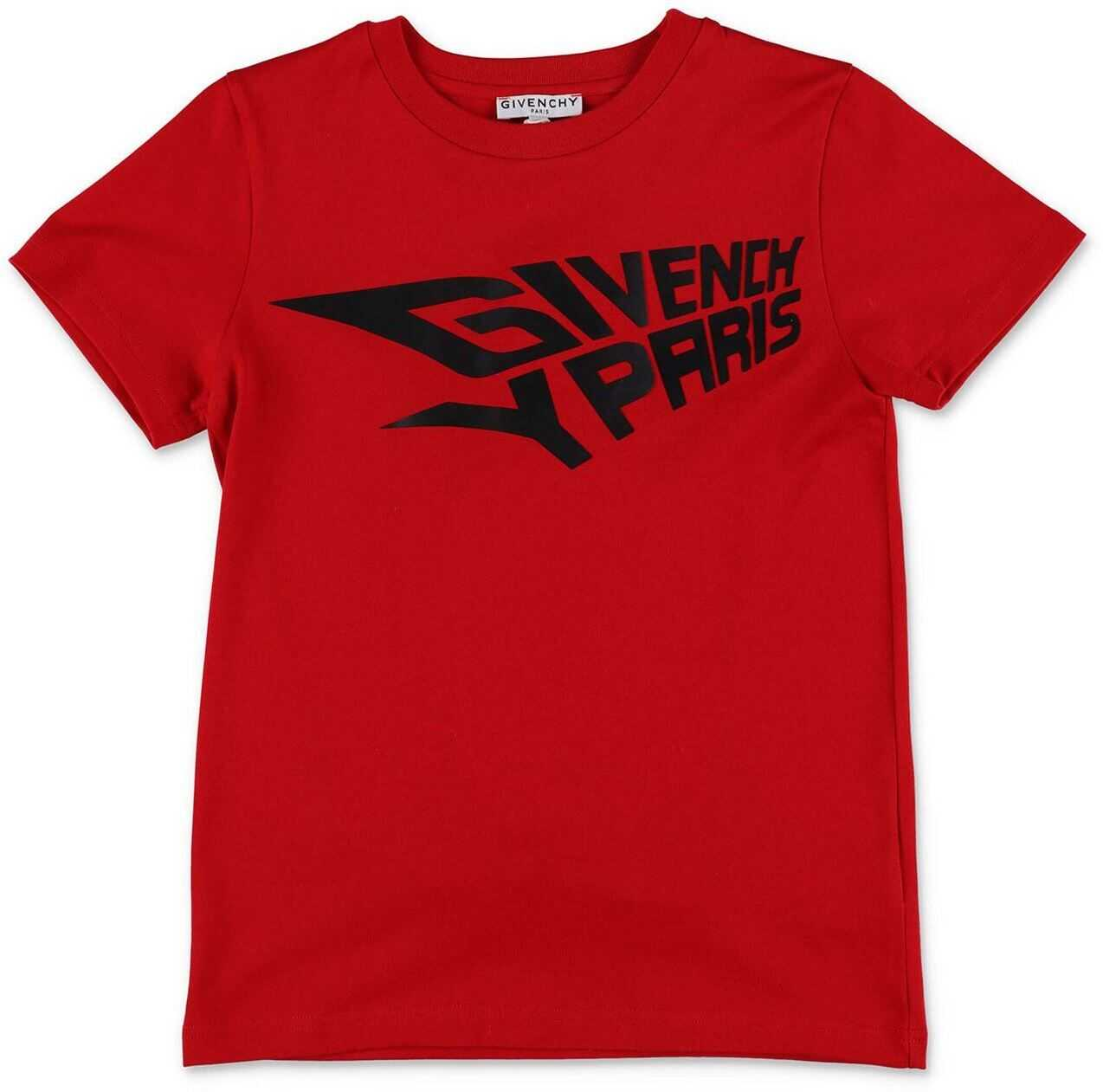 Givenchy Red T-Shirt With Logo Print Red
