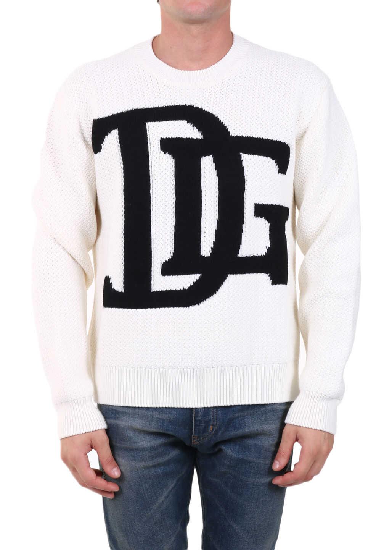 Dolce & Gabbana Logo Sweater White imagine