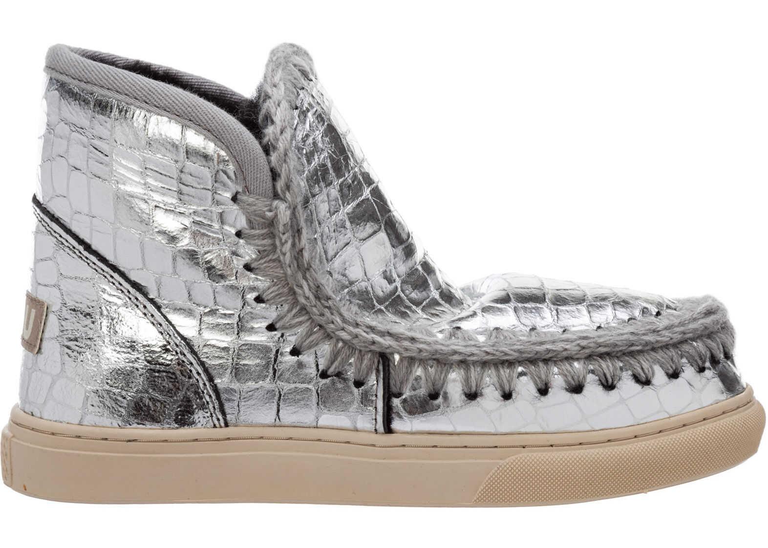 Mou Eskimo Sneaker MU.FW111000C Silver imagine b-mall.ro