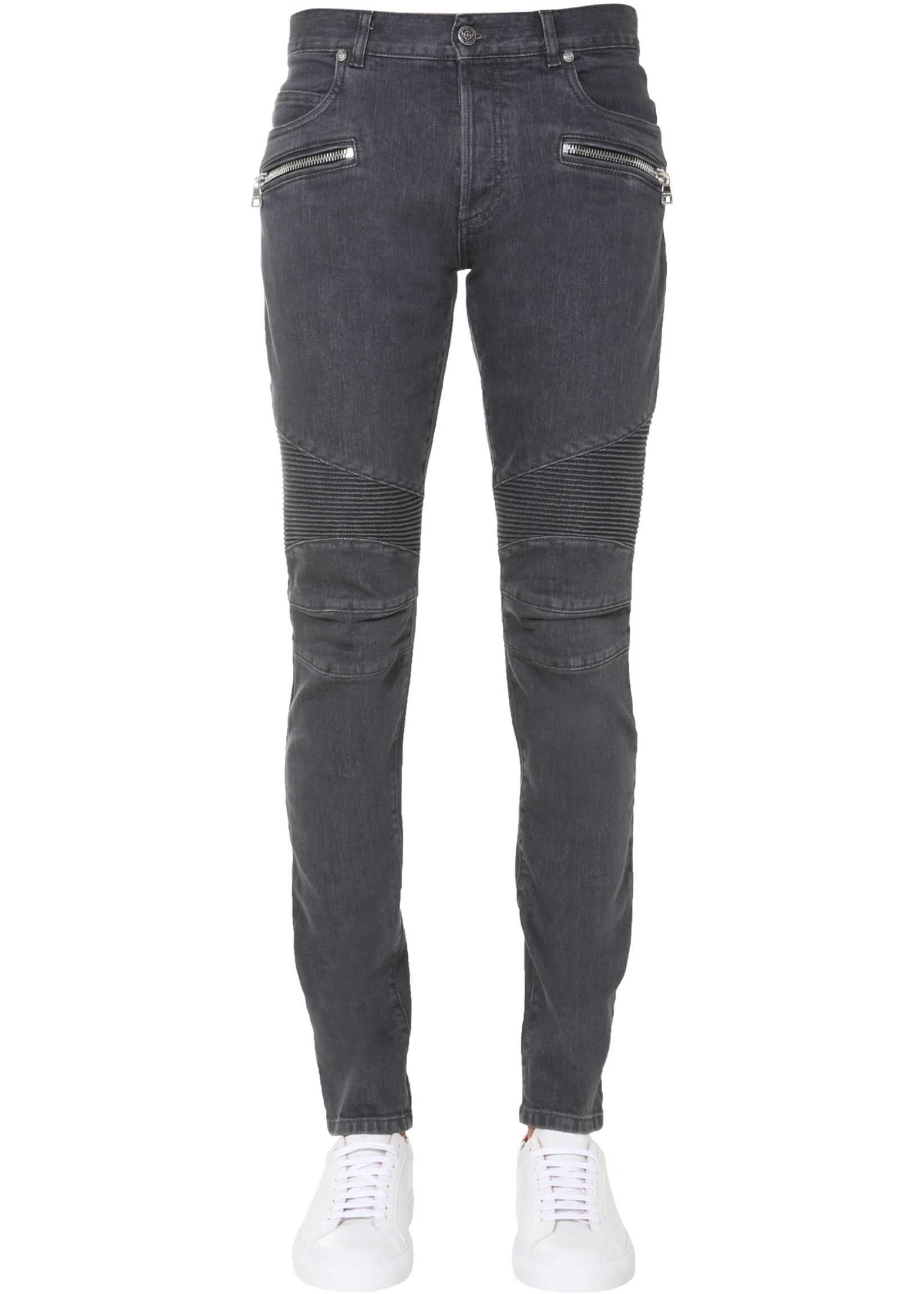 Balmain Slim Fit Jeans GREY imagine