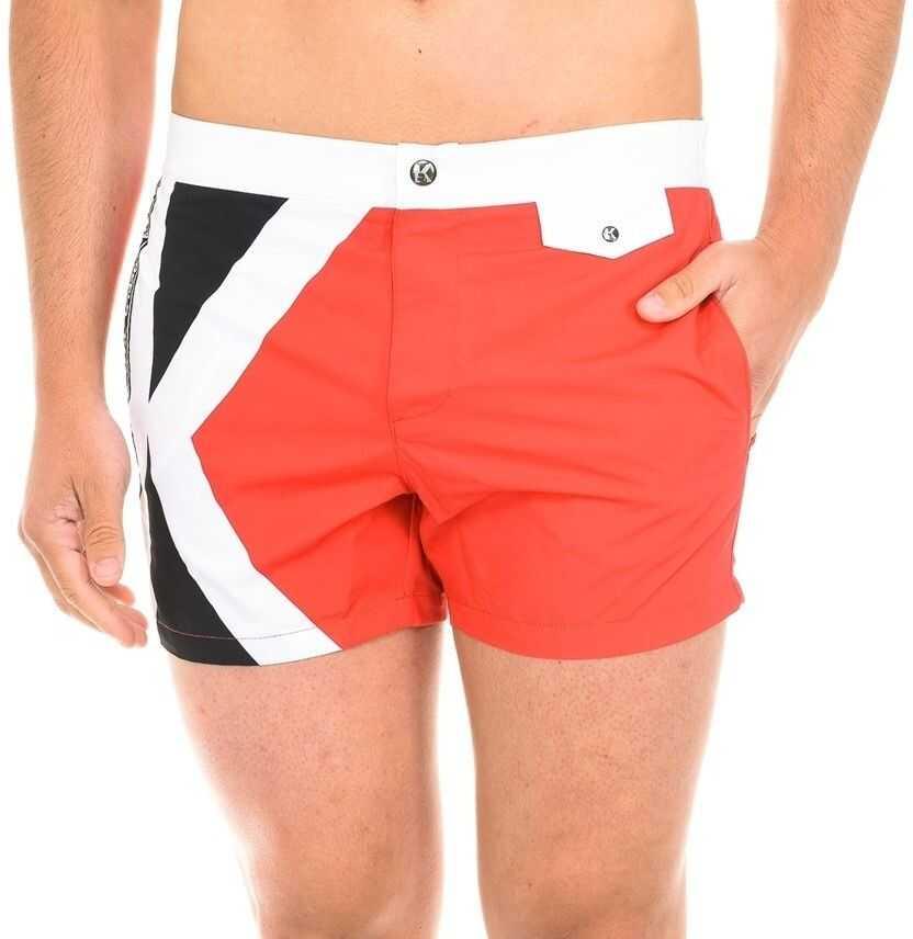 Karl Lagerfeld Logo Swimshorts KL19MBS04 Red imagine