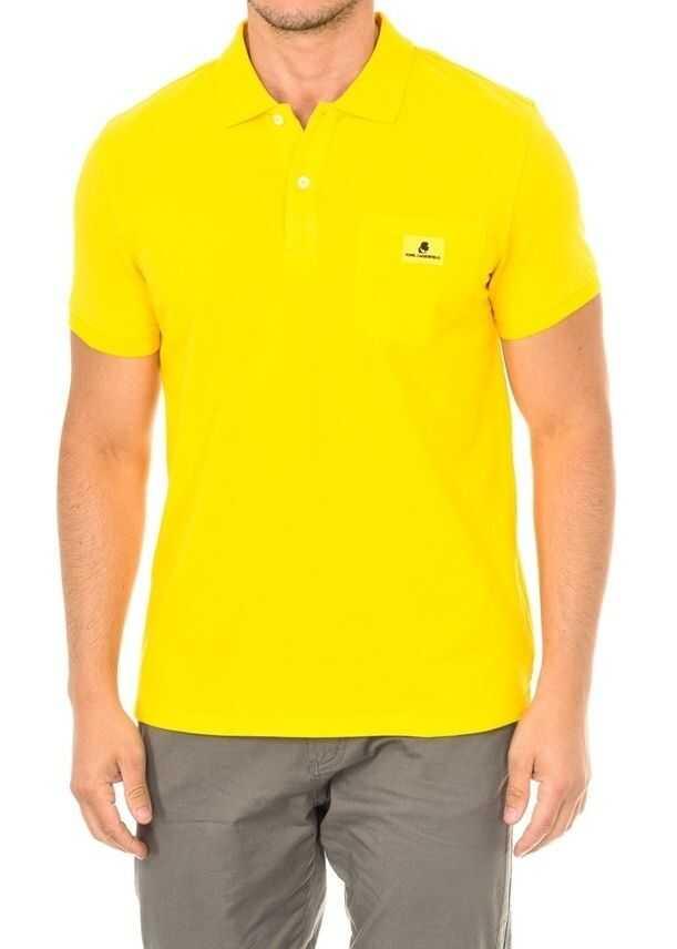 Karl Lagerfeld Basic Polo Short Sleeve KL19MPL01 Yellow imagine