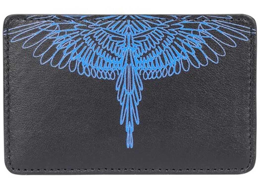 Wings Print Card Holder In Black