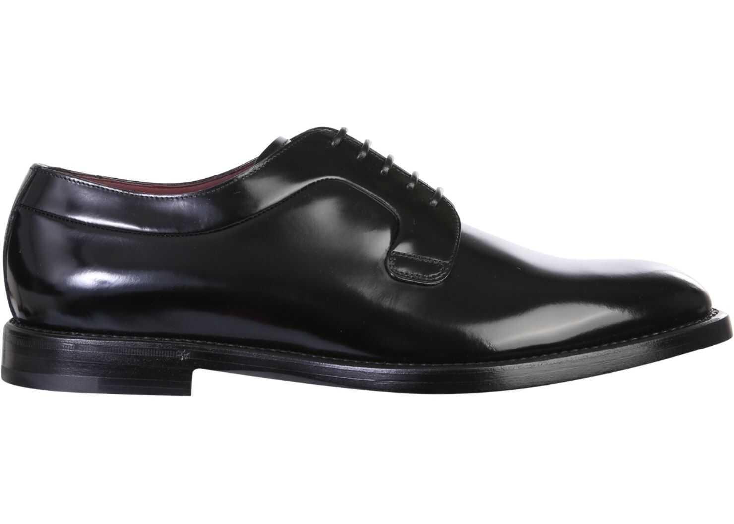 Dolce & Gabbana Derby Shoes A10650_A120380999 BLACK imagine b-mall.ro