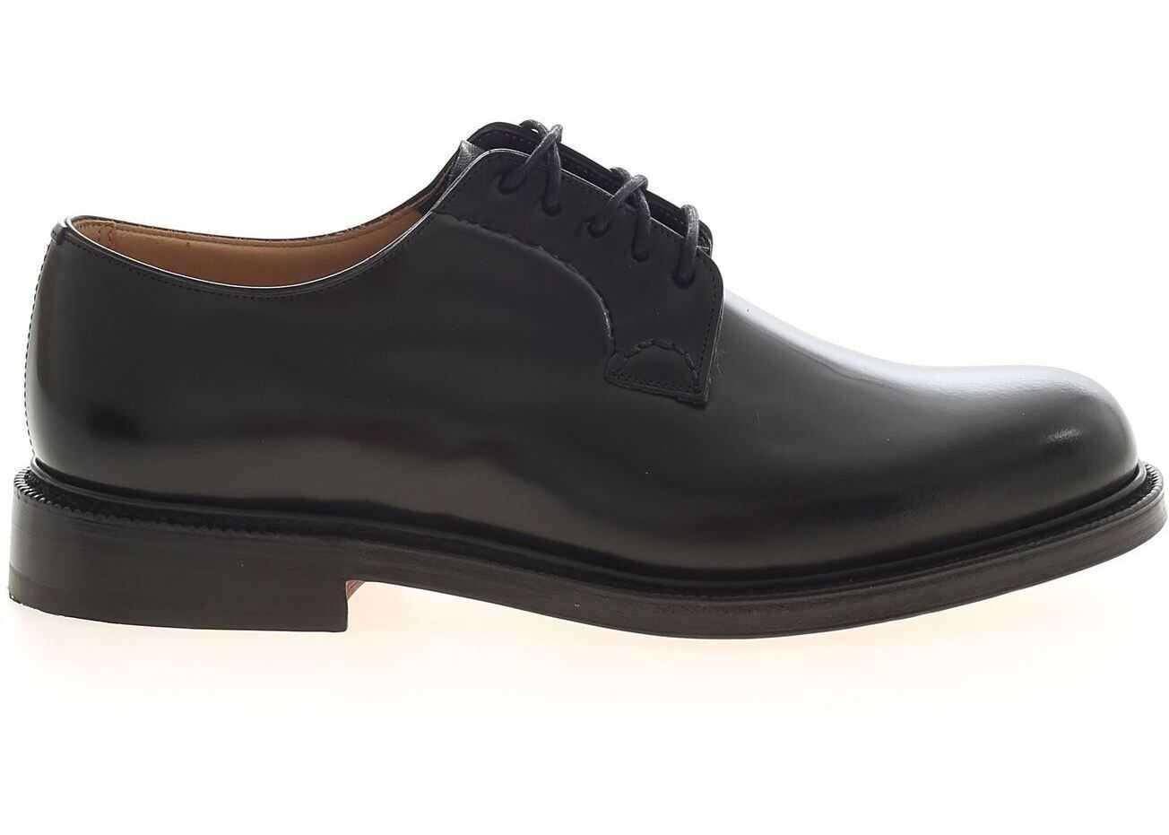 Church's Shannon Derby Shoes In Black EEB001 9XV F0AAB Black imagine b-mall.ro