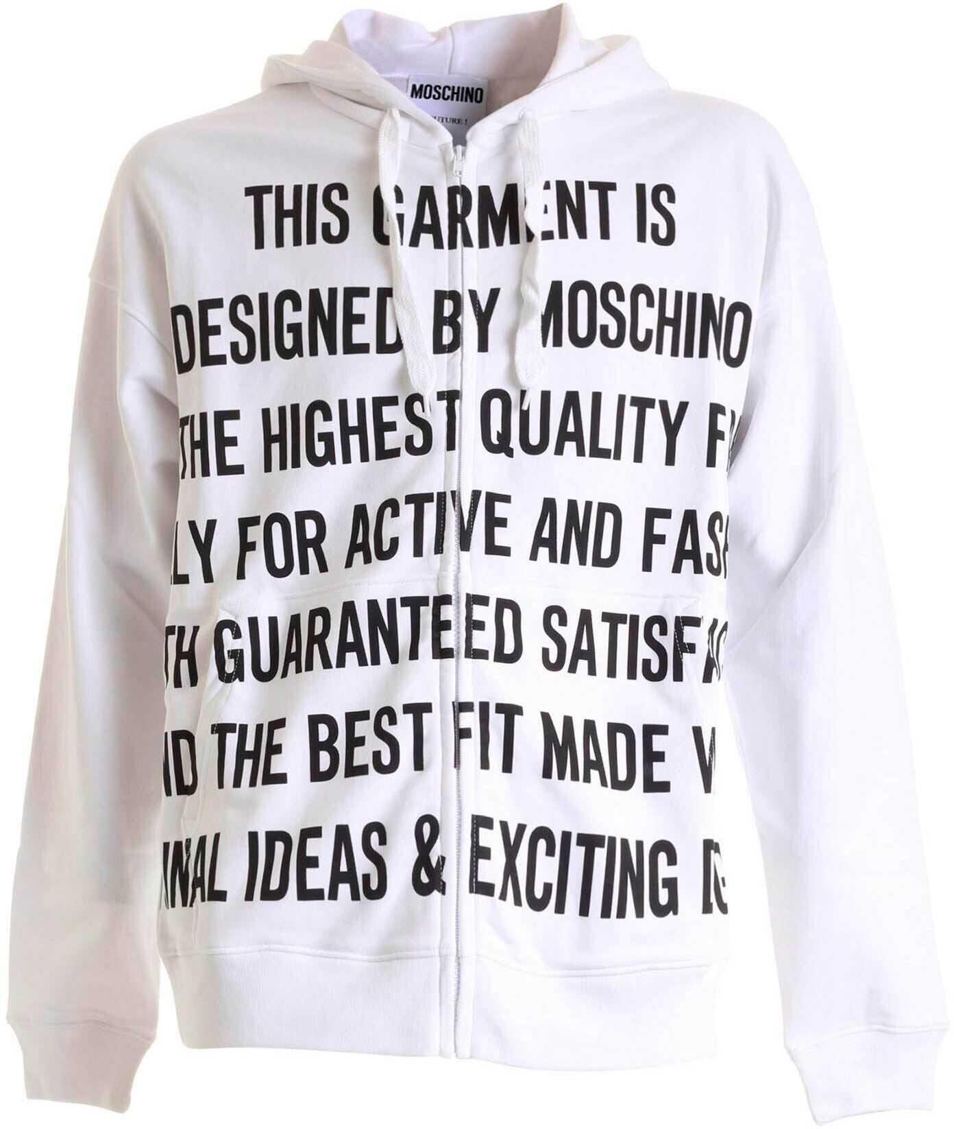 Moschino Logo Lettering Print Sweatshirt In White White imagine