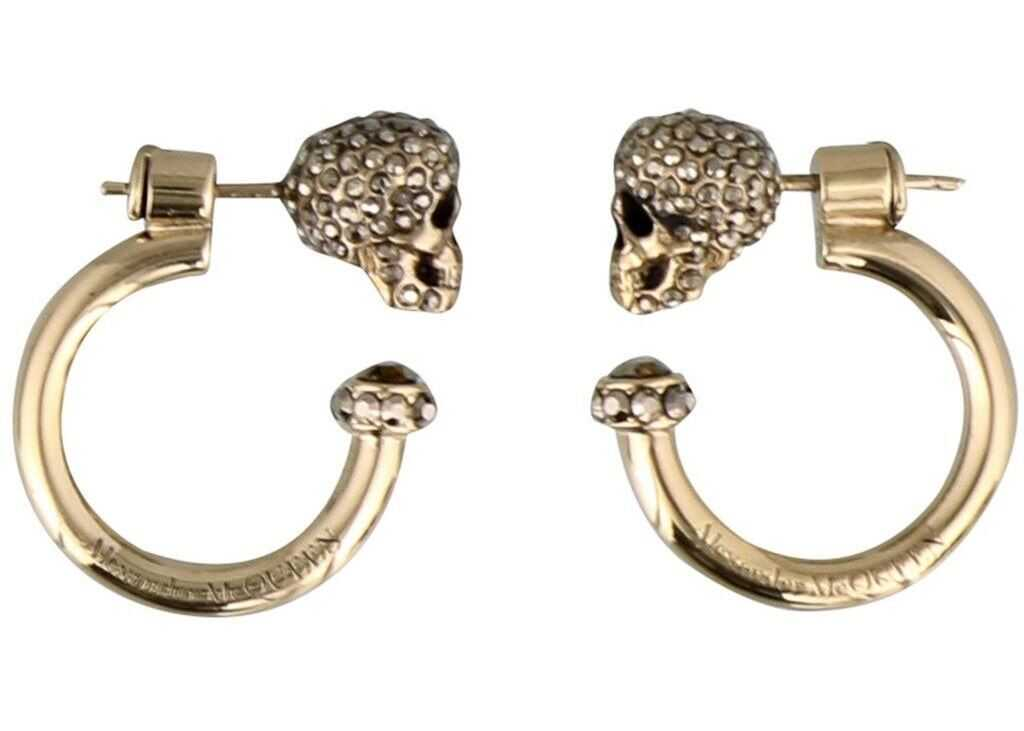 Alexander McQueen Skull Earrings In Gold Color Gold