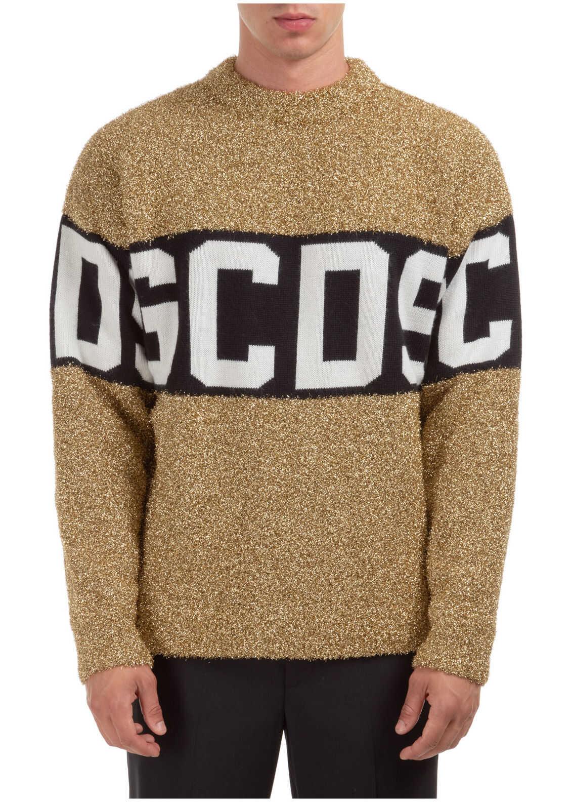 GCDS Pullover Logo Gold imagine