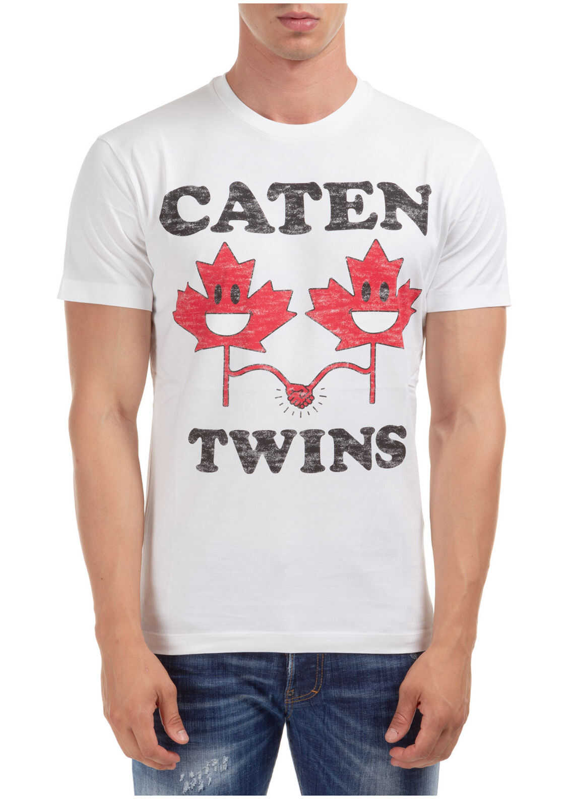 DSQUARED2 Short Sleeve T-Shirt Crew Neckline Jumper Caten'twins White imagine