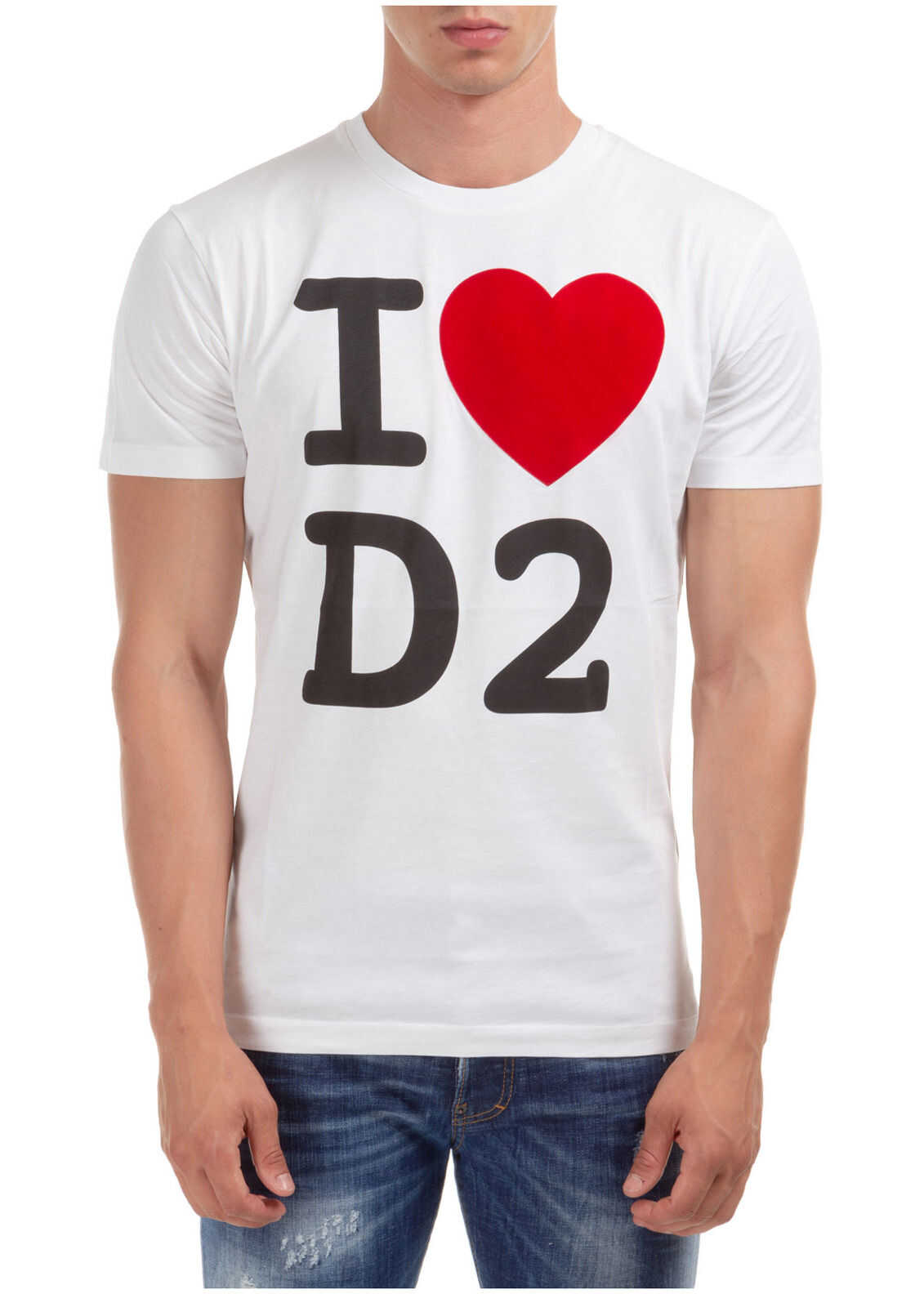 DSQUARED2 Heart D2 White imagine