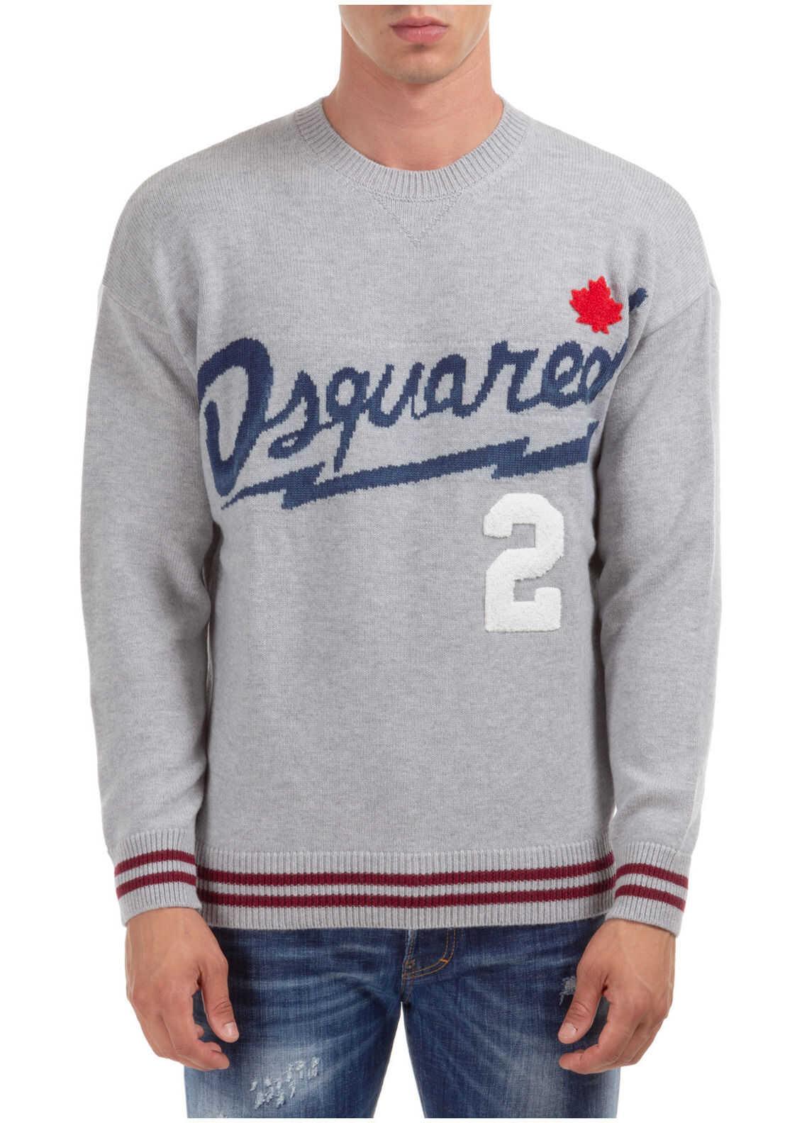 DSQUARED2 Sweater Pullover Grey imagine