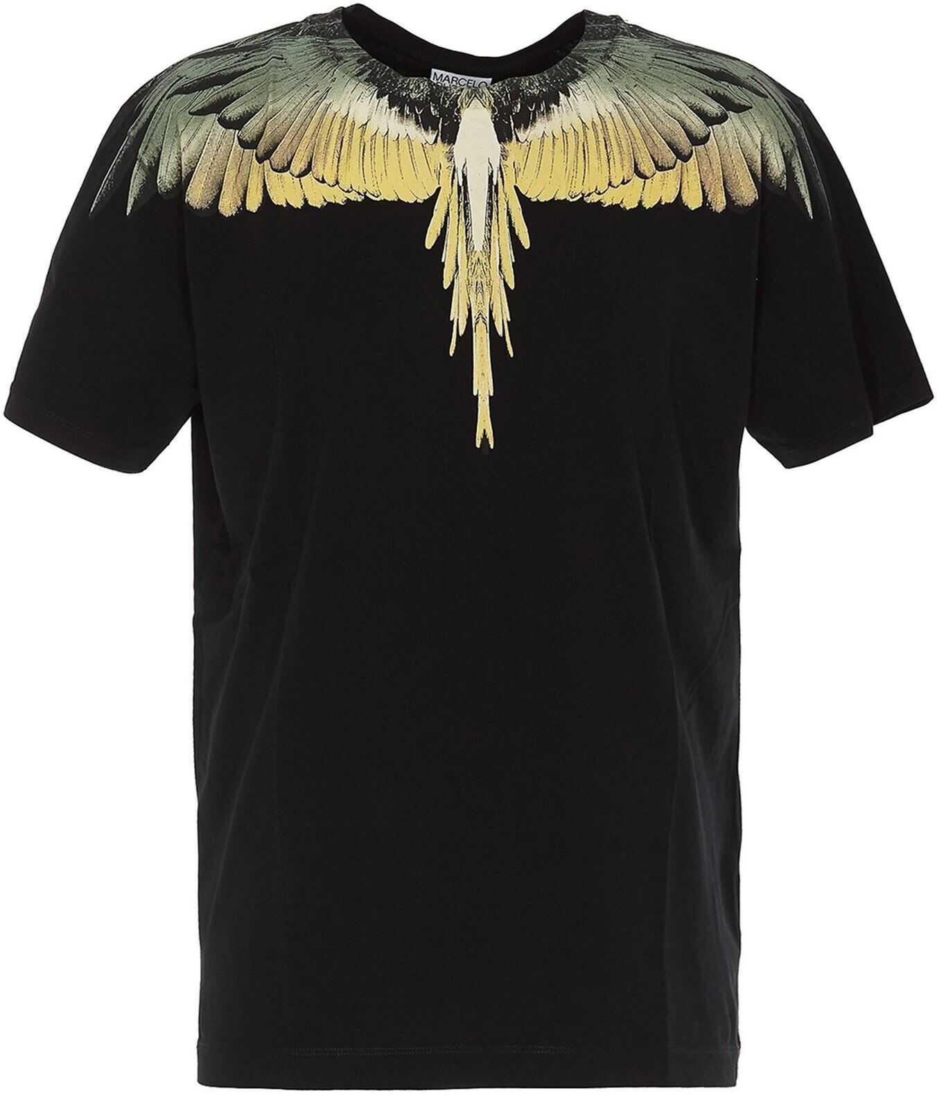 Yellow Wings T-Shirt In Black