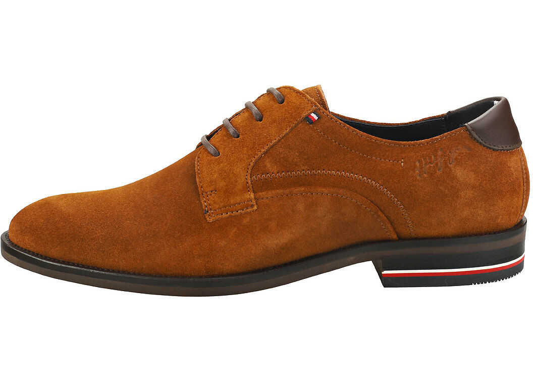 Tommy Hilfiger Signature Smart Shoes In Winter Cognac Brown