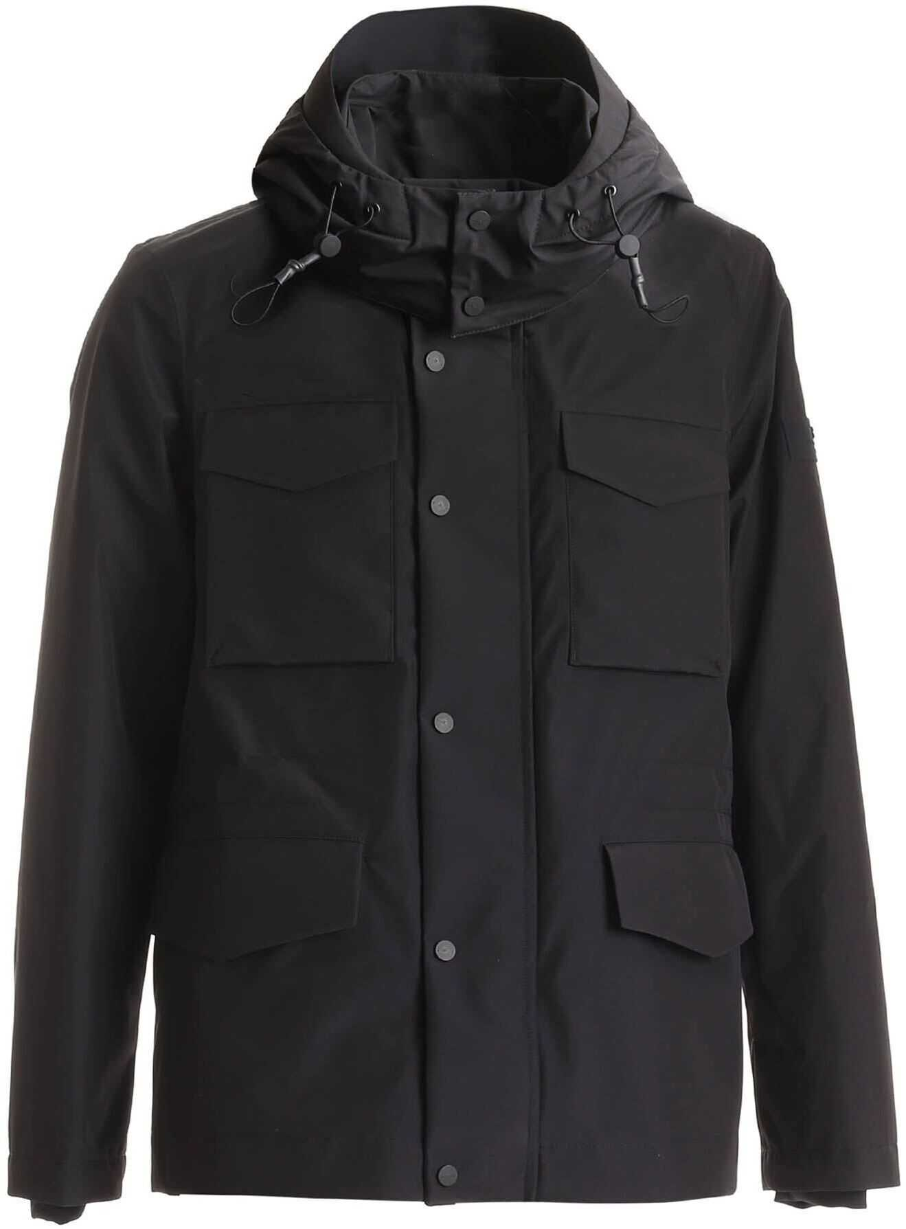 Peuterey Tatanka Drp 02 Jacket In Black Black imagine
