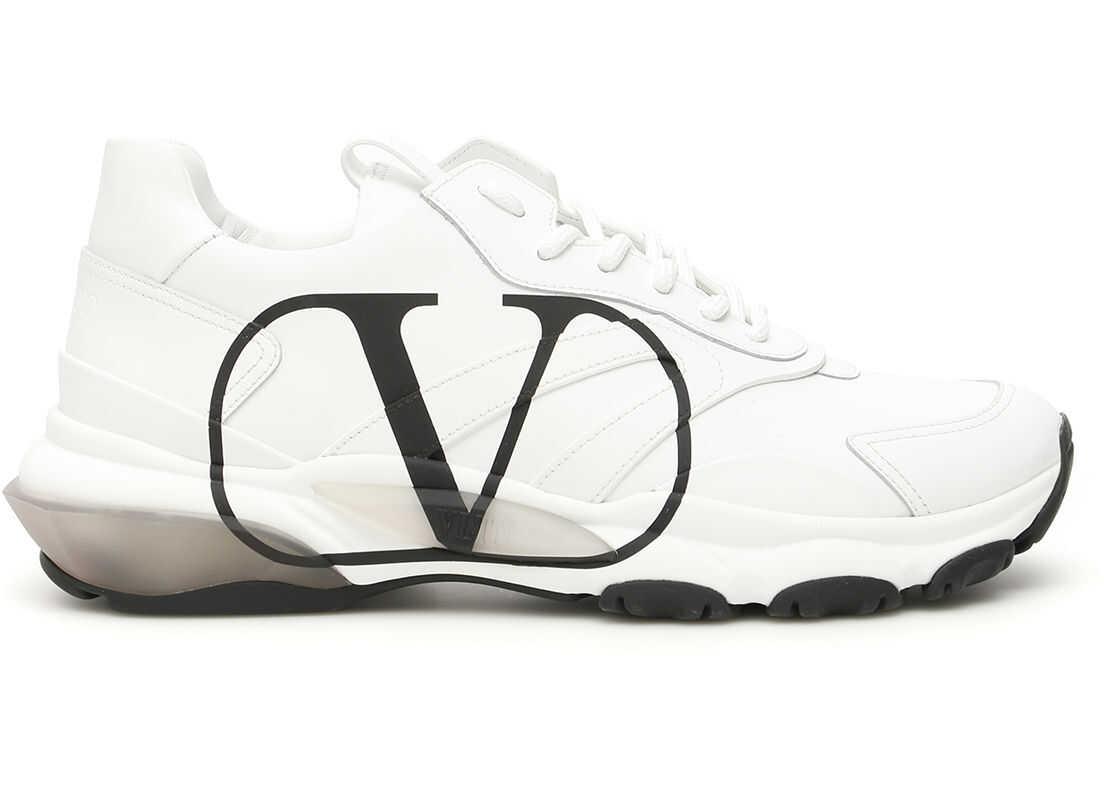 Valentino Garavani Vlogo Bounce Sneakers UY2S0B05DDS BIANCO NERO BIANCO imagine b-mall.ro