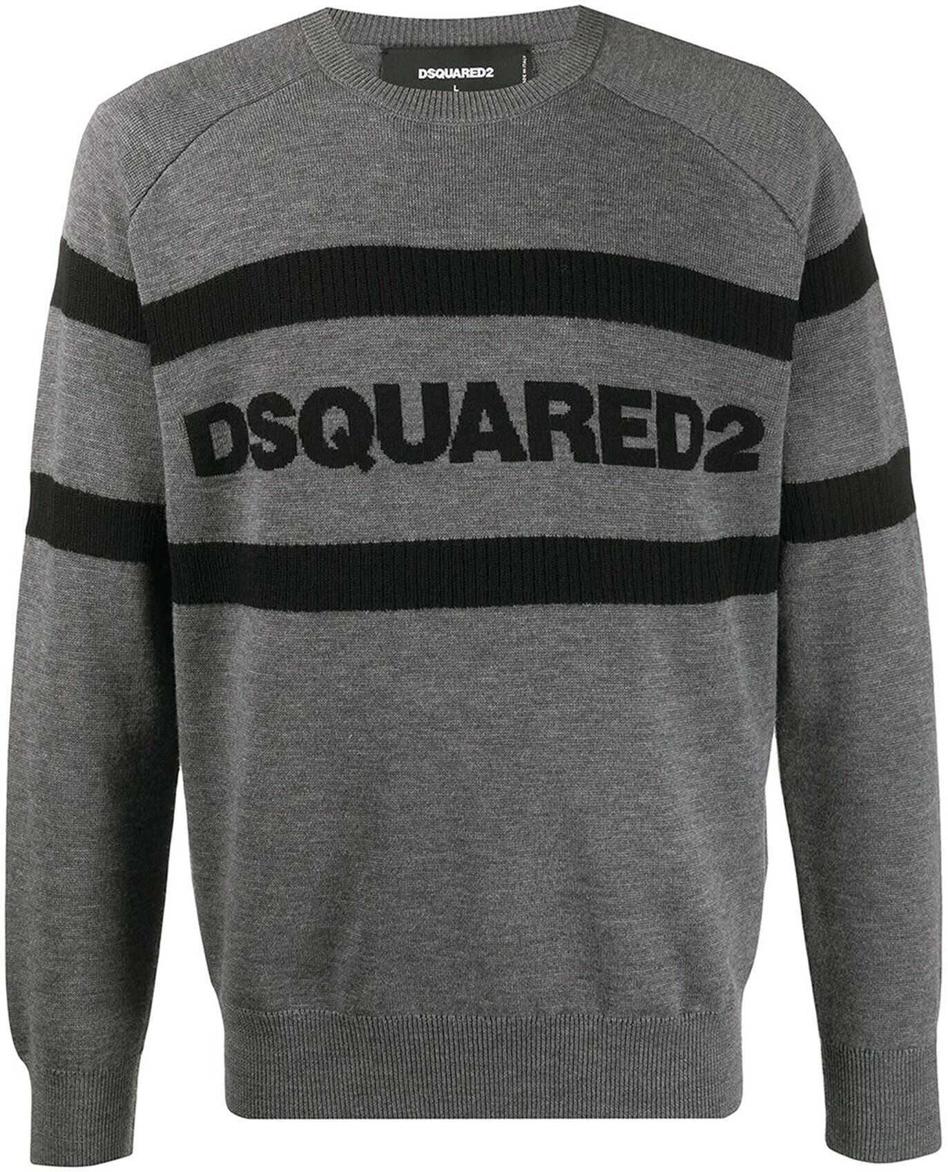 DSQUARED2 Logo Sweater In Grey Grey imagine