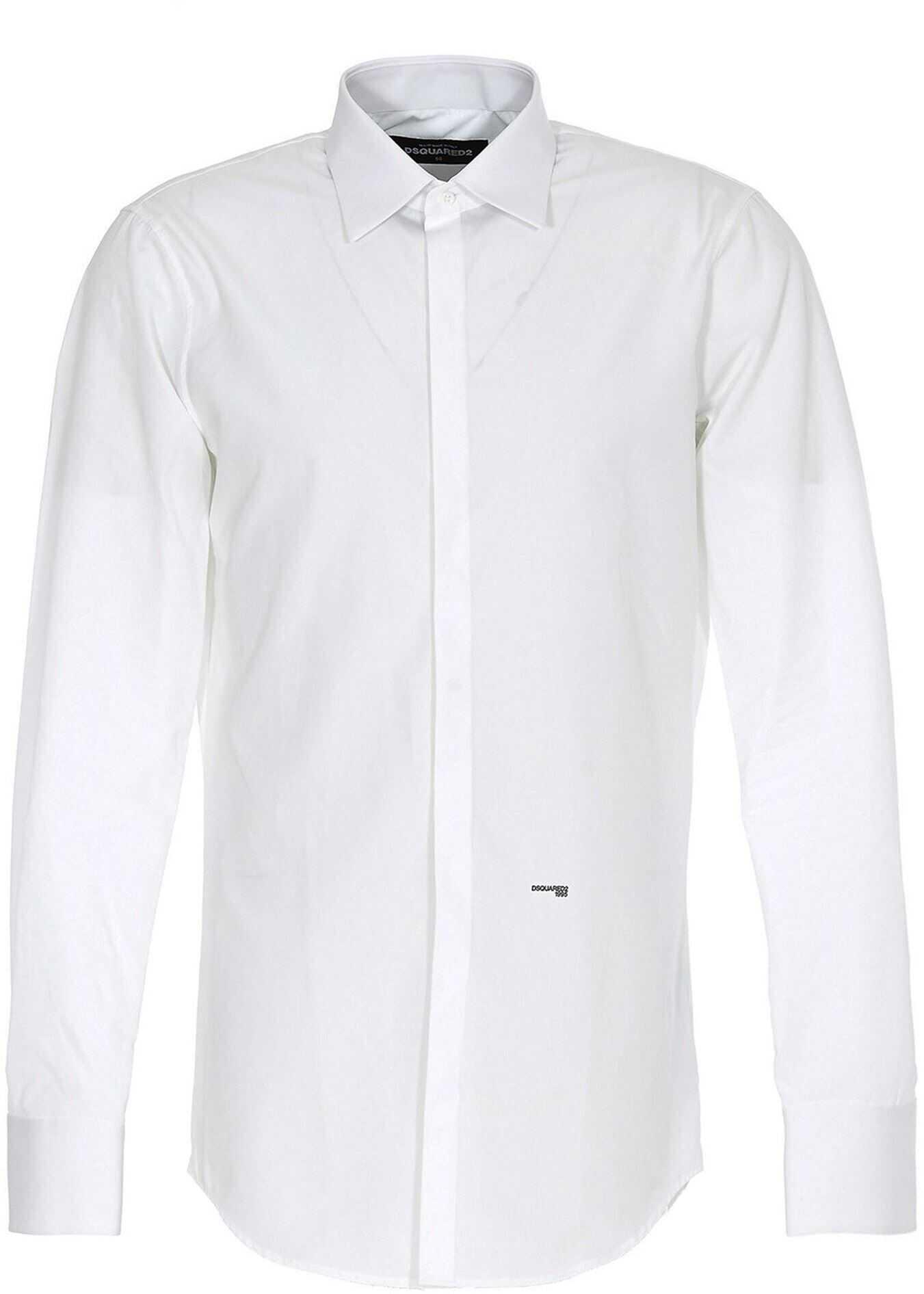 DSQUARED2 Logo Shirt In White White imagine