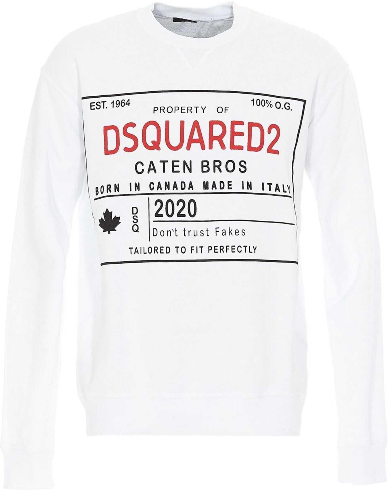 DSQUARED2 Dsquared2 Sweatshirt In White White imagine