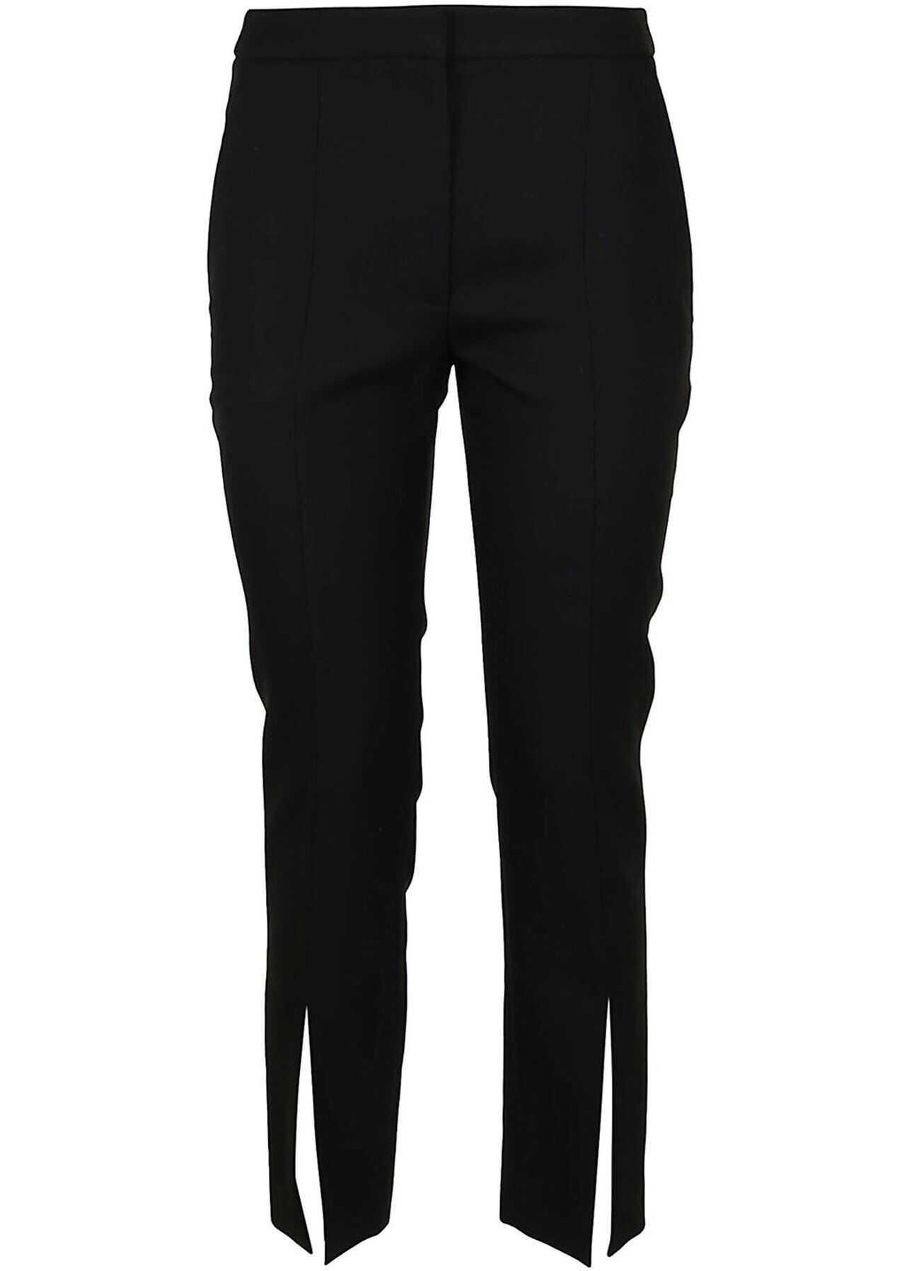 Alexander McQueen Front Vents Pants In Black Black