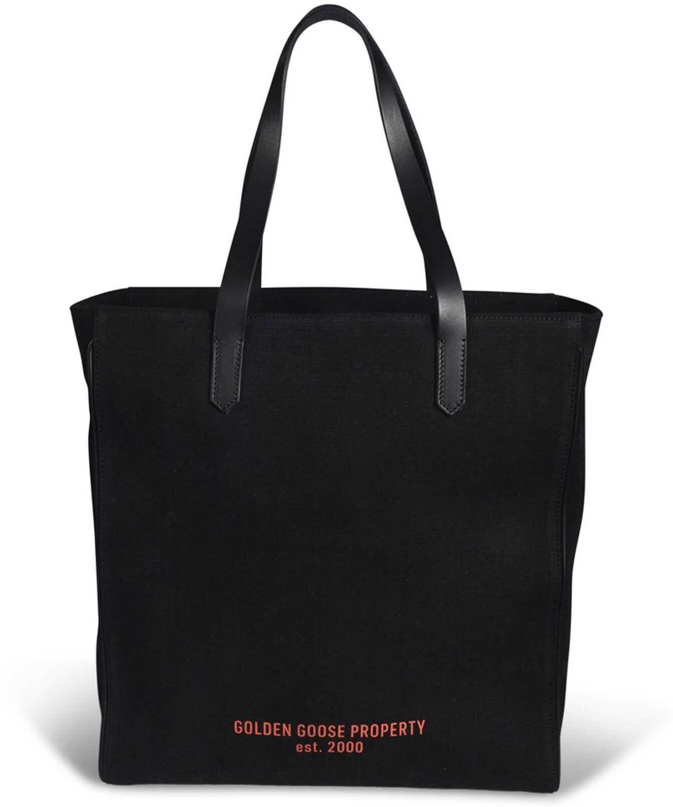 Golden Goose California Denim Bag In Black GWA00103A00012490100 Black imagine b-mall.ro
