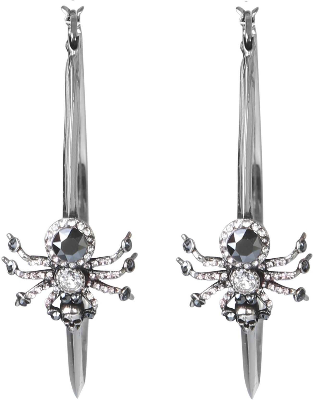 Alexander McQueen Spider Earrings SILVER