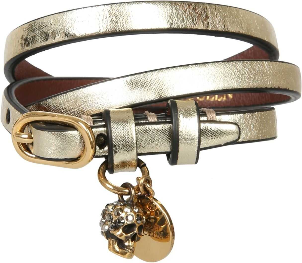 Alexander McQueen Three Turns Bracelet GOLD