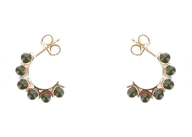 Bottega Veneta Semi-Circle Earrings With Pearls BOTTLE