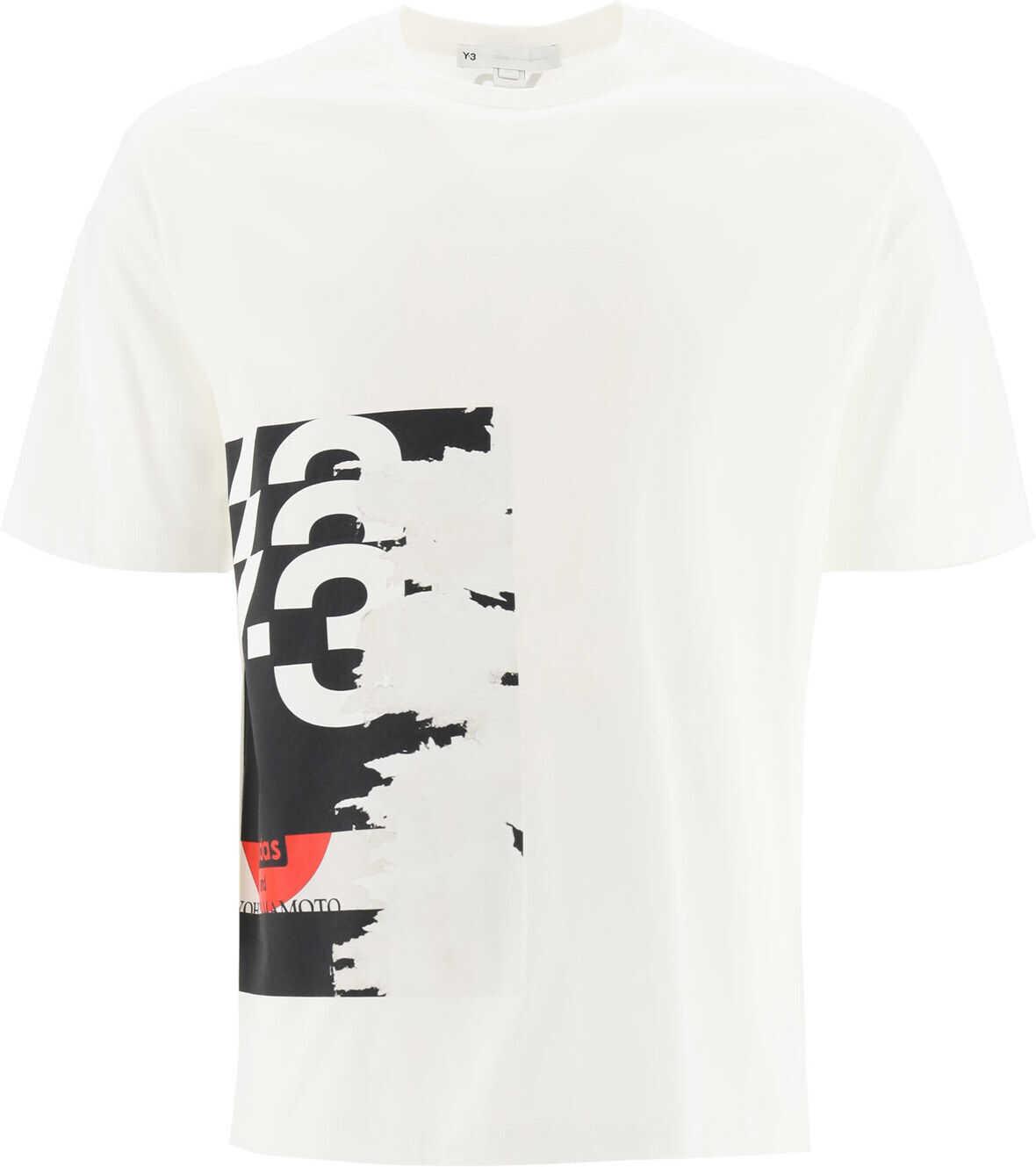 Y-3 Logo Print T-Shirt CORE WHITE