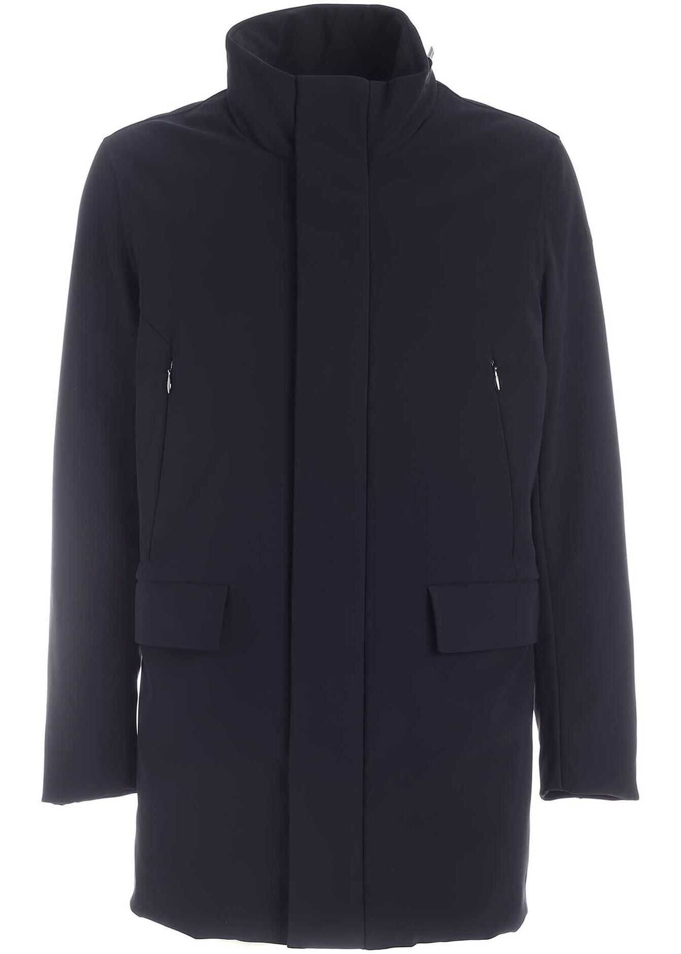 RRD Roberto Ricci Designs Winter Rain Coat In Blue Blue imagine