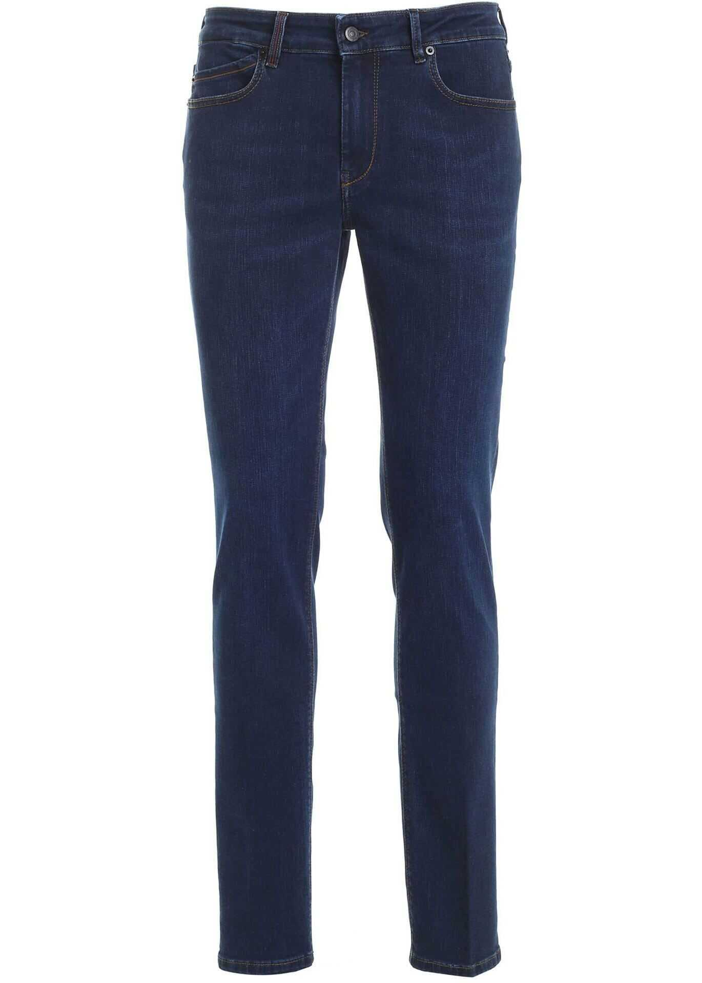 Hogan 5-Pocket Jeans In Blue Blue imagine