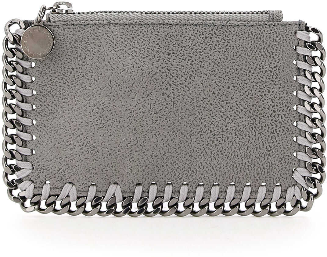 Stella McCartney Falabella Cardholder Pouch 422364 W9132 LIGHT GREY imagine b-mall.ro