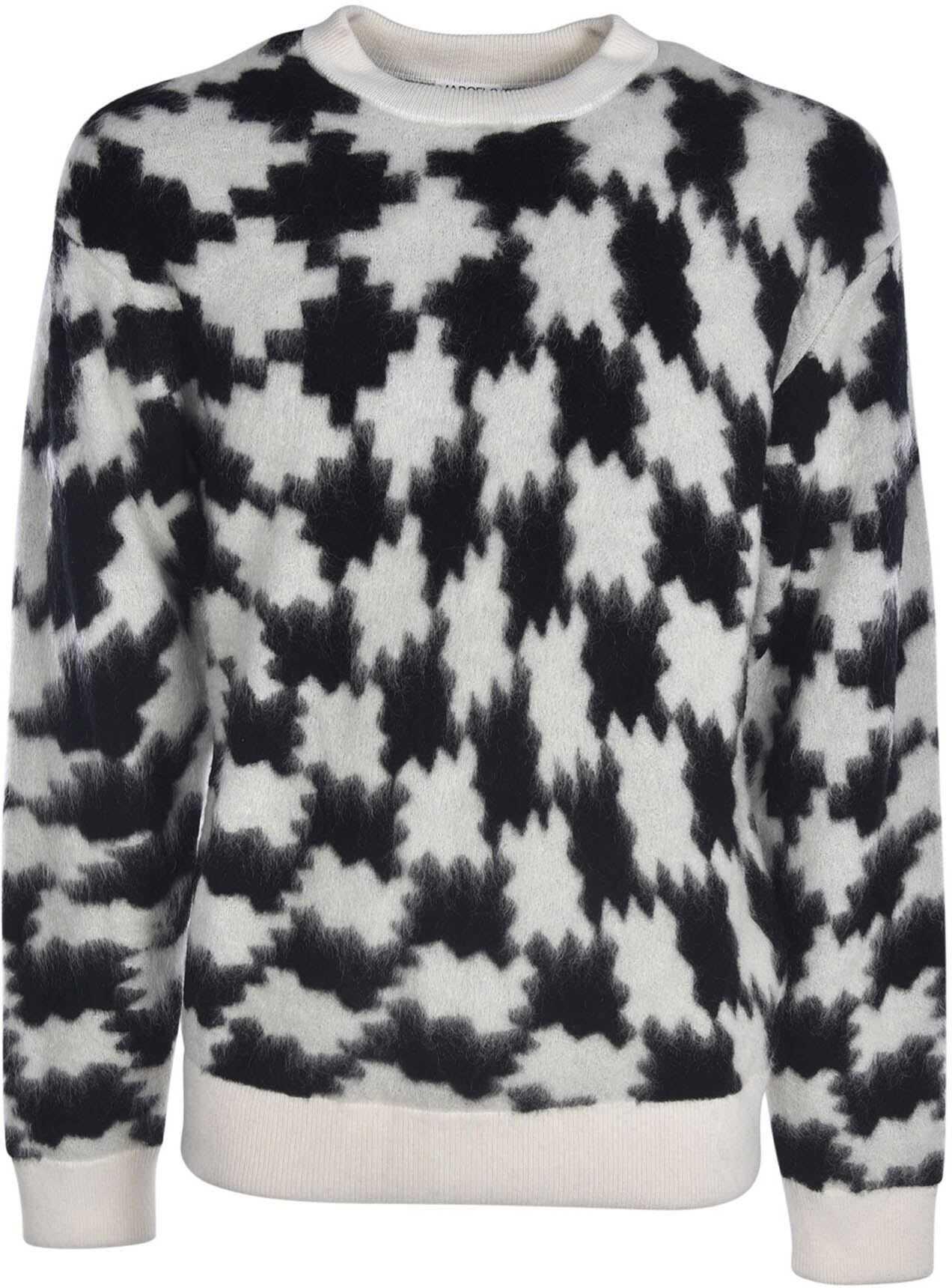 Marcelo Burlon Cross Pdp Sweater In Black And White White imagine
