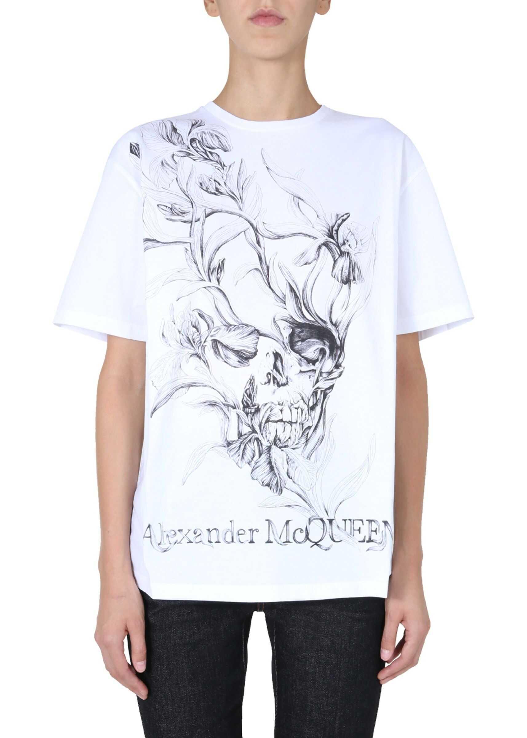 Alexander McQueen Crew Neck T-Shirt WHITE