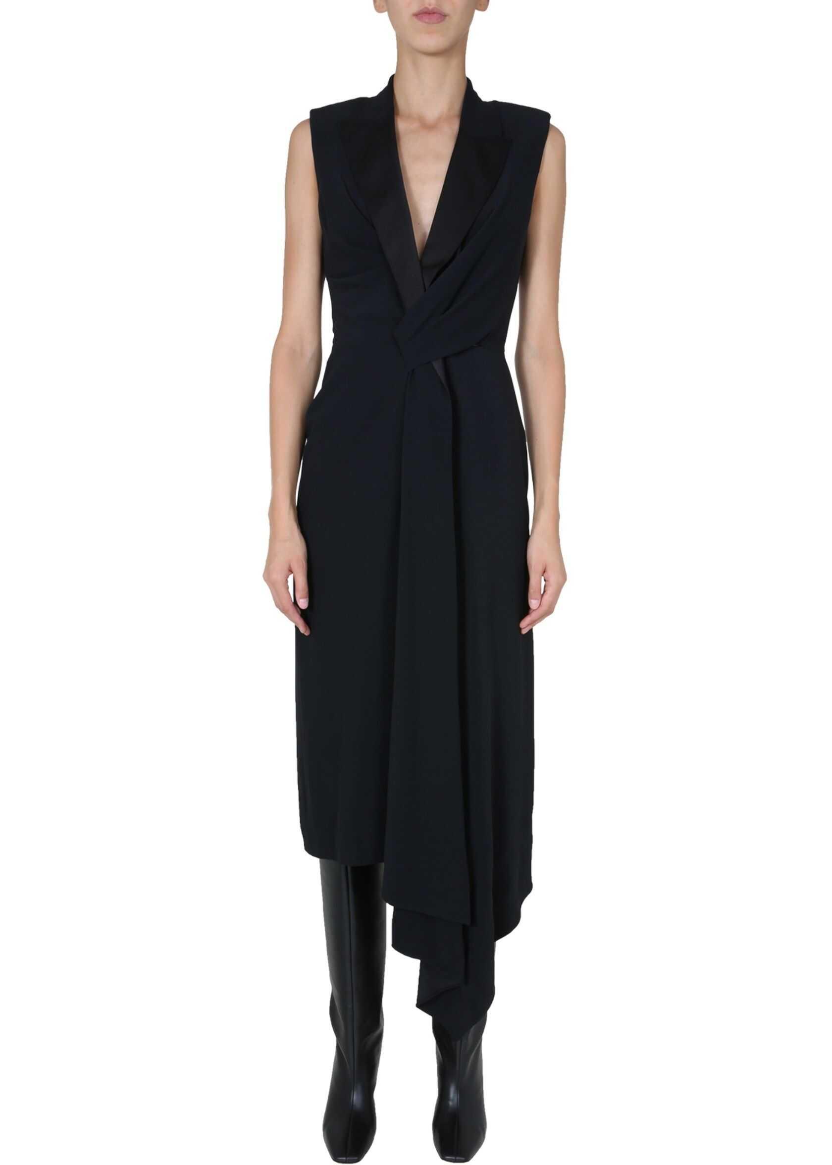 Alexander McQueen Midi Dress BLACK