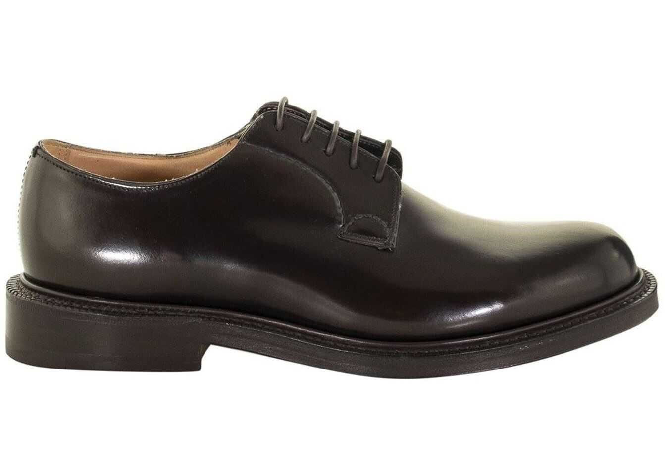 Church's Shannon Brown Polished Leather Derby Shoes EEB001 9XV F0AMA Brown imagine b-mall.ro