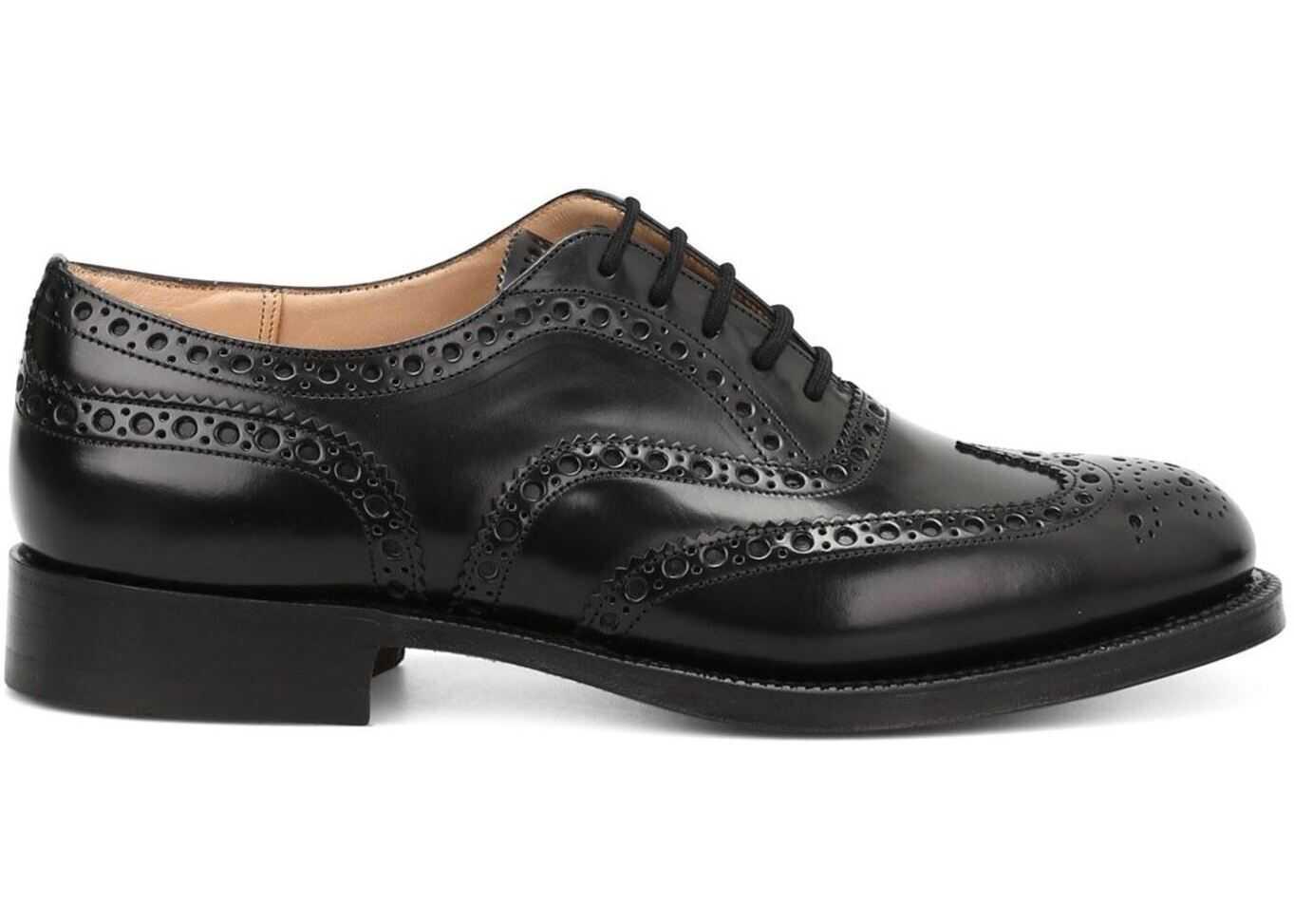 Church's Burwood Oxford Shoes In Black EEB002 9XV F0AAB Black imagine b-mall.ro