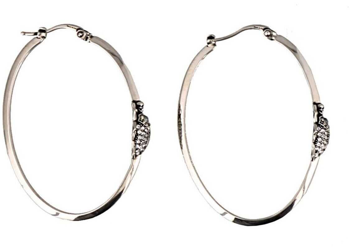 Alexander McQueen Silver-Colored Embellished Insect Earrings Silver