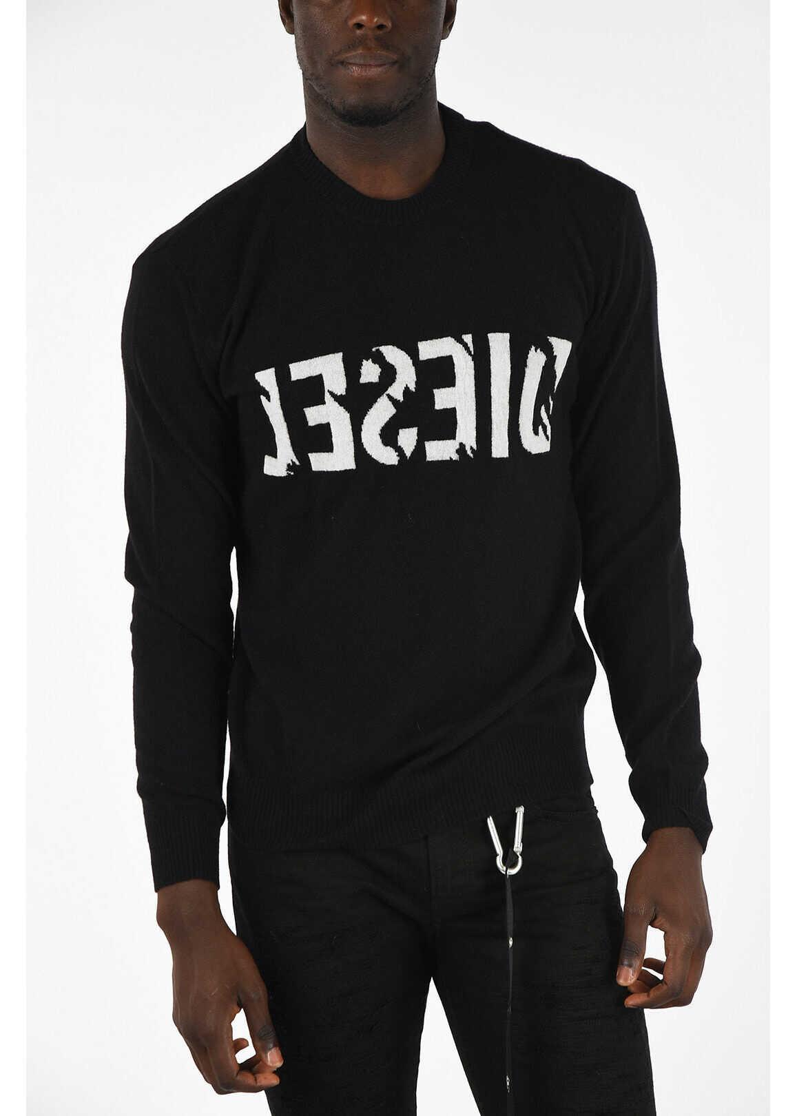 Diesel Wool and Cashmere K-JOY Sweater BLACK imagine
