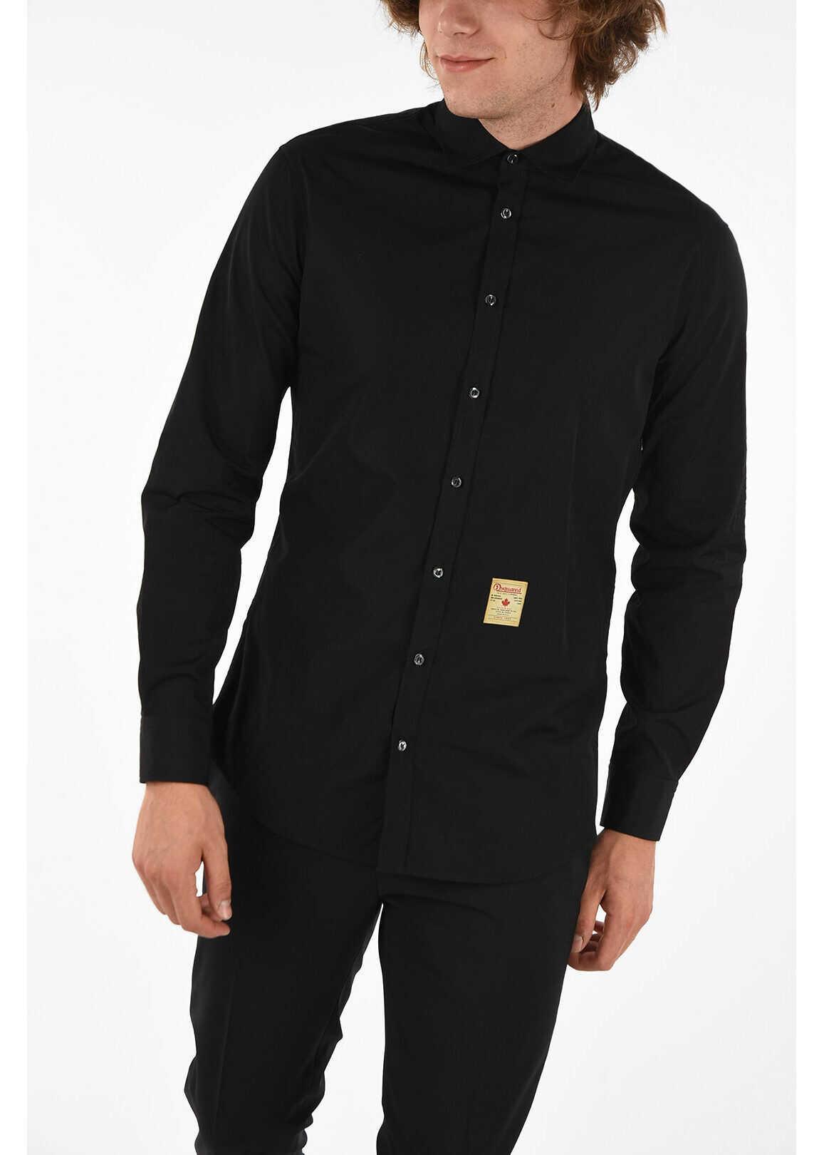 DSQUARED2 M.B FIT Shirt BLACK imagine