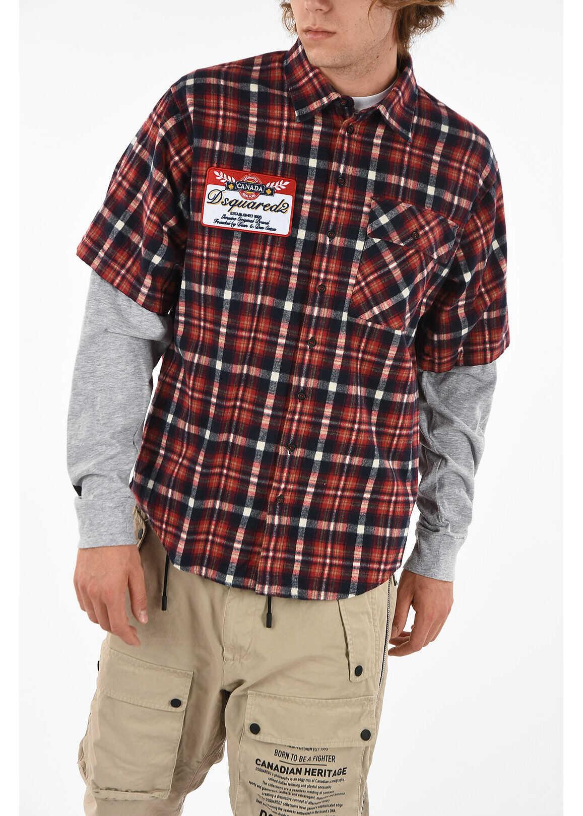 DSQUARED2 Checked Shirt MULTICOLOR imagine