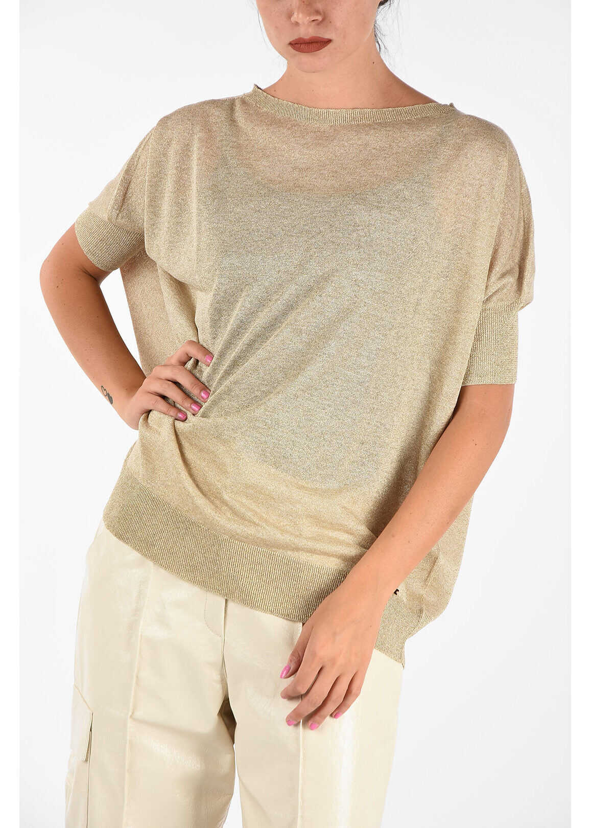 Fay Glittered Top GOLD