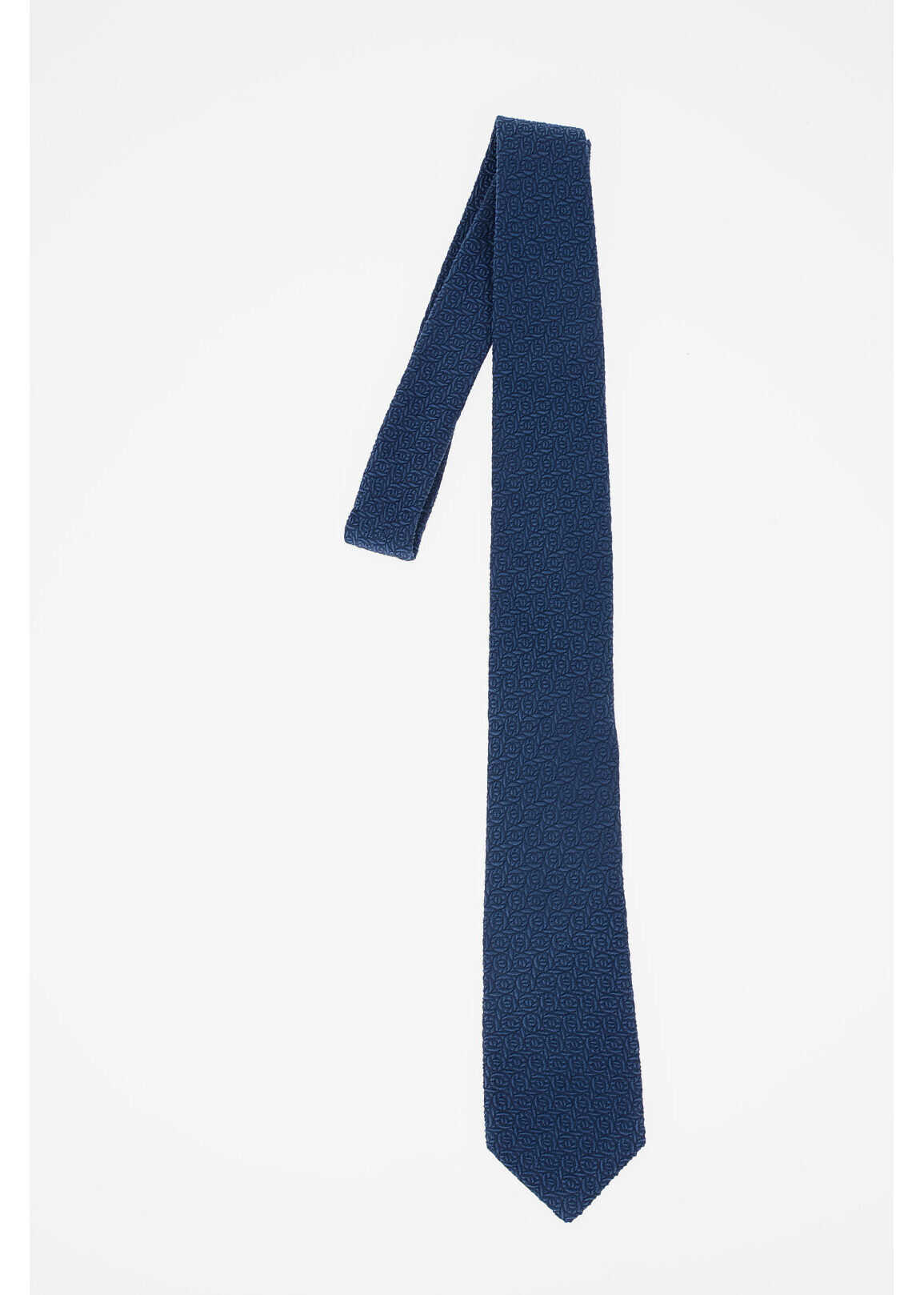 CORNELIANI CC COLLECTION Silk Printed Tie BLUE