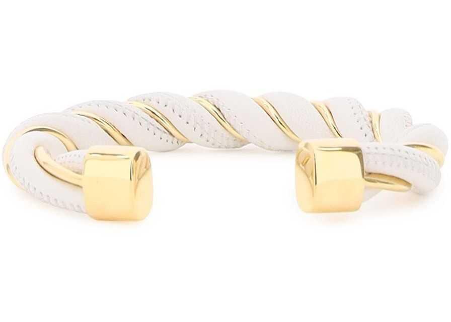 Bottega Veneta Torcillon Bracelet WHITE