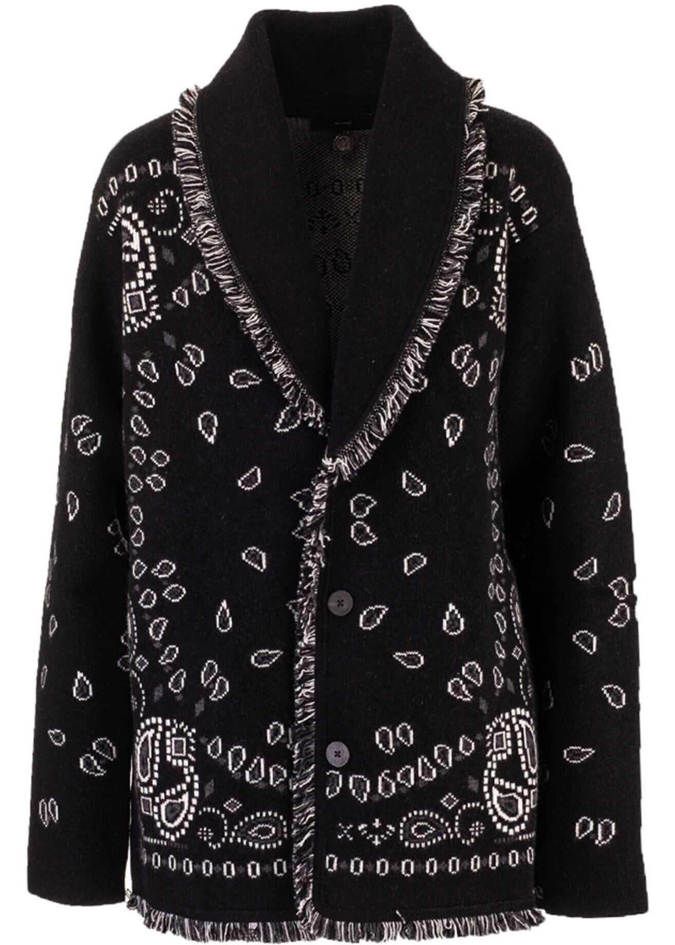 ALANUI Oversized Jacquard Cardigan In Black Black imagine