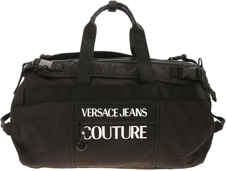 Versace Jeans Couture White Logo Shoulder Bag In Black E1YZAB61 71593 899 Black imagine b-mall.ro