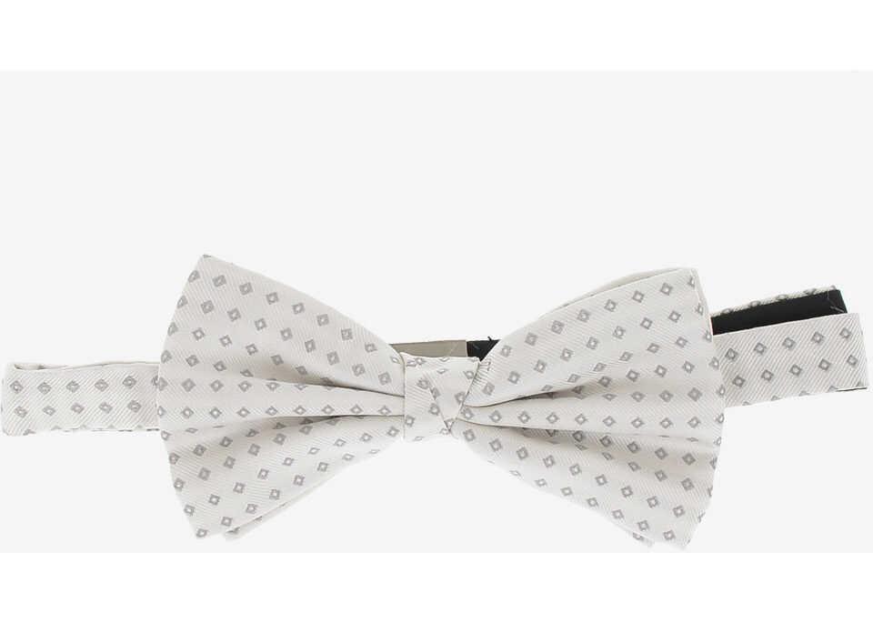 CORNELIANI CC COLLECTION Printed Bow Tie WHITE