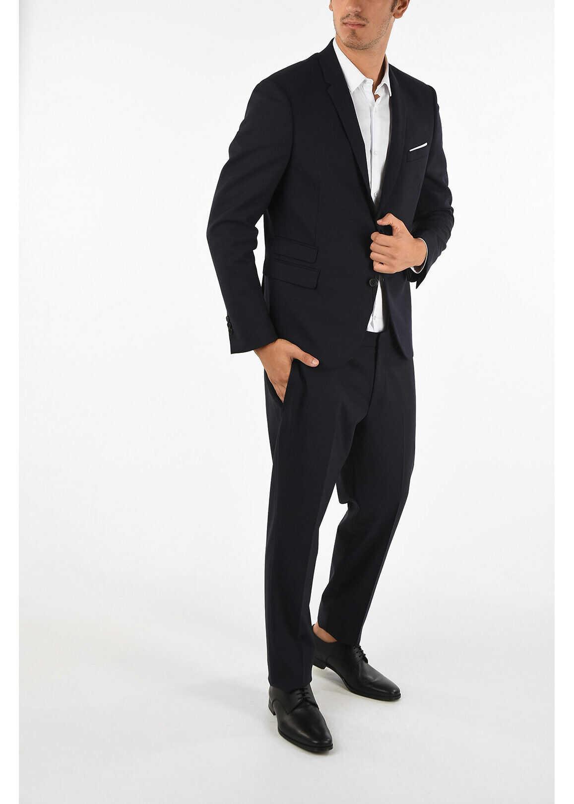 Neil Barrett Slim Fitted Single Breasted Suit BLUE imagine